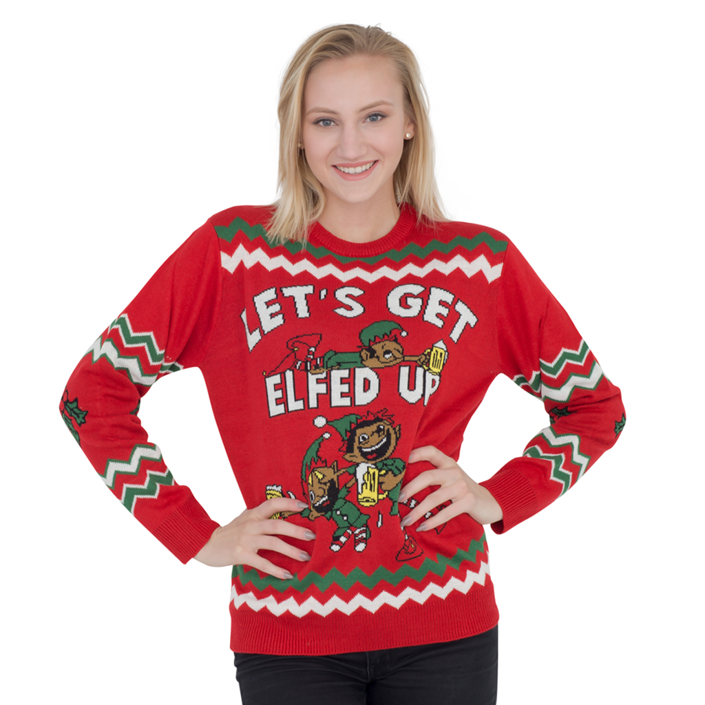 Let's Get Elfed Up Ugly Christmas Sweater | Costume Agent