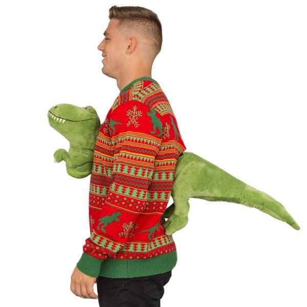 3D T-Rex Ugly Christmas Sweater