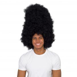 Huge Black Afro Wig Front